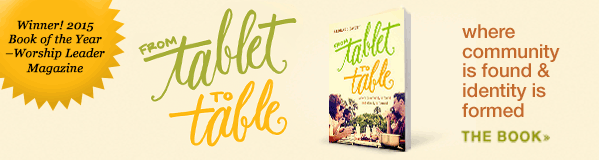 From Tablet to Table award