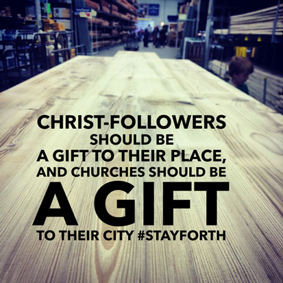 Christ-followers should be a gift
